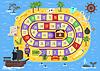 flach Stil Kinder Piratenbrettspiel