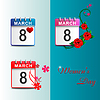 Set calendars March  | Stock Vector Graphics