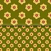 Векторный клипарт: Цветы лета узор текстуры бесшовные обои