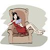 Mädchen zu Hause Lesebuch