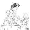 Aristocrat Mutter ihre Tochter Saft Gießen