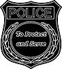 Polizei - Freund und Helfer | Stock Vektrografik