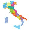 Karte von Italien mit Provinzen in weißem Hintergrund