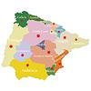 Karte von Spanien und Portugal auf die Bereiche