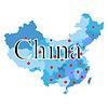Karte von China mit Regionen