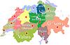 Schweiz-Karte mit Regionen