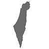 Israel Karte in grau