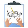 Vektor Cliparts: Clipboard.A Blatt Papier