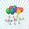 Vektor Cliparts: Logo mit der Aufschrift für Kinder Objektkunst