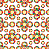Векторный клипарт: Бесшовные геометрический узор цветы яркий красивый VEC