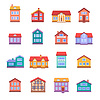 Haus Symbole Set