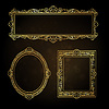 Gold frames | Stock Vector Graphics
