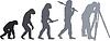Векторный клипарт: Эволюция гео