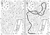 Vektor Cliparts: Swing-Labyrinth