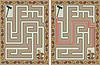Vektor Cliparts: Einfache Herbst Labyrinth