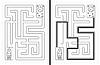 Vektor Cliparts: Einfache Rakete Labyrinth