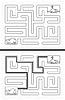 Vektor Cliparts: Einfache Wal Labyrinth