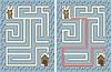 Vektor Cliparts: Einfache Hund Labyrinth