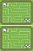 Vektor Cliparts: Einfache Schafe Labyrinth