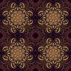 Nahtlose Muster. Mandala im indischen Stil.