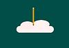 Векторный клипарт: запись облако