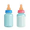 Векторный клипарт: детские бутылочки