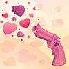 Векторный клипарт: Гламурный розовый пистолет