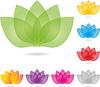 Векторный клипарт: Листья, цветы, природа
