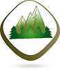 Векторный клипарт: Горы, лес, природа