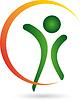 Векторный клипарт: Человек, фитнес, здоровье, человек на ходу
