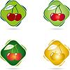 Векторный клипарт: Вишневый, фрукты, продукты питания