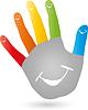 Векторный клипарт: Пять, руки, улыбка