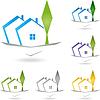 Векторный клипарт: Недвижимость, дом, крыша, архитектура