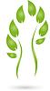 Vektor Cliparts: Logo, Pflanze, Laub, Mensch, Naturopaths