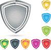 Vektor Cliparts: Logo, kamm, Sammlung, Sicherheit