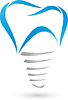 Vektor Cliparts: Zahn, Zahnimplantat, Zahnimplantat