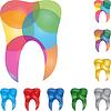 Vektor Cliparts: Zahn, Zahn-Logo, Kreise, Dental Logo