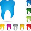 Vektor Cliparts: Zahn, Zahn-Logo, Zahnmedizin, Zahnarzt
