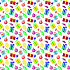 Vektor Cliparts: Nahtlose Muster Hintergrund mit neuen Jahr und