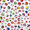Glatte Ikonen Flaggen der Welt souveräner Staaten,