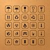 Vektor Cliparts: Set schwarze Fracht Symbole
