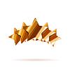 Vektor Cliparts: Fünf glänzende Bronze Bewertung Sterne mit Schatten