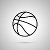 Vektor Cliparts: Basketball Ball einfachen schwarzen Symbol