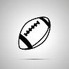 Vektor Cliparts: Der Rugbyball, einfaches schwarzes Symbol