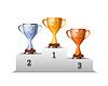 Vektor Cliparts: Cups der Gewinner Award Podium