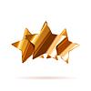 Vektor Cliparts: Drei glänzende Bronze Bewertung Sterne mit Schatten