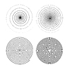 Vektor Cliparts: Set von vier unendlich schwarzen wirbelt