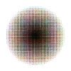 Vektor Cliparts: Runde Raster Muster in CMYK-Farben