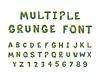 Vektor Cliparts: Mehrere helle Farben Grunge-Schriftart Alphabet