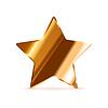 Vektor Cliparts: Glossy Bronze Bewertung Stern